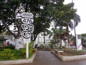 Placa - Estrada Rastro da Serpente - Apiaí - SP